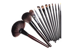 Brushs for make-up Royalty Free Stock Images