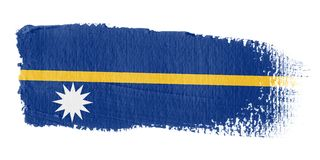 brushstroke σημαία Ναούρου Στοκ εικόνα με δικαίωμα ελεύθερης χρήσης