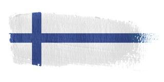brushstroke σημαία της Φινλανδίας Στοκ φωτογραφία με δικαίωμα ελεύθερης χρήσης