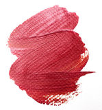 Brushstroke. Red color on white Royalty Free Stock Image