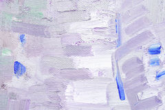 Brushstroke on canvas. Brushstroke with oil paints in magenta colors on canvas stock photography
