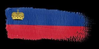 brushstroke chorągwiany Liechtenstein ilustracja wektor