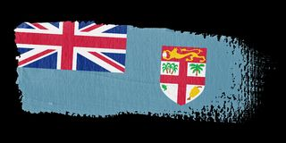 brushstroke Fiji flaga Zdjęcia Royalty Free