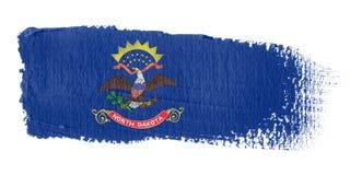 brushstroke flagę na północ Dakoty Obrazy Royalty Free