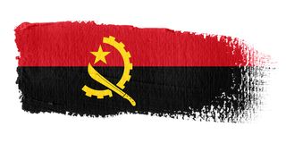 Brushstroke Flag Angola Stock Photography