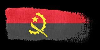 Brushstroke Flag Angola Royalty Free Stock Images
