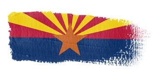 Brushstroke Flag Arizona Stock Images