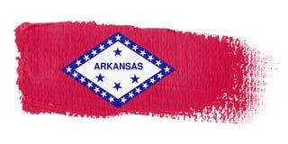 Brushstroke Flag Arkansas Royalty Free Stock Photography
