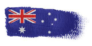 Brushstroke Flag Australia. Brushstroke-flag made to the computer Stock Photos