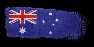 Brushstroke Flag Australia Stock Image
