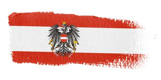 Brushstroke Flag Austria. Brushstroke-flag made to the computer Royalty Free Stock Images