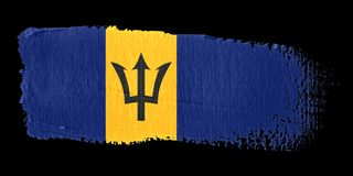 Brushstroke Flag Barbados Stock Images