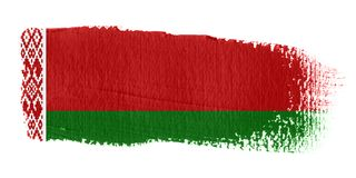 Brushstroke Flag Belarus Stock Photos