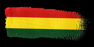 Brushstroke Flag Bolivia Stock Photos