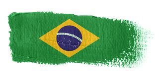 Brushstroke Flag Brazil Stock Images