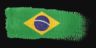 Brushstroke Flag Brazil Royalty Free Stock Images