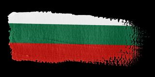 Brushstroke Flag Bulgaria. Brushstroke-flag made to the computer Stock Photos