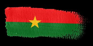 Brushstroke Flag Burkina Faso Royalty Free Stock Images