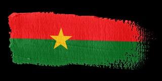 Brushstroke Flag Burkina Faso Royalty Free Stock Images