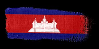 Brushstroke Flag Cambodia Stock Images