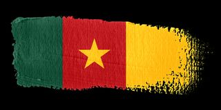 Brushstroke Flag Cameroon Stock Photography