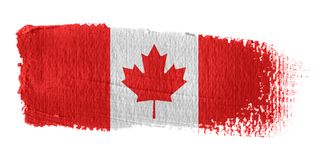 Brushstroke Flag Canada. Brushstroke-flag made to the computer Royalty Free Stock Photography