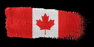 Brushstroke Flag Canada. Brushstroke-flag made to the computer Stock Photos