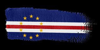 Brushstroke Flag Cape Verde Stock Photo