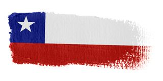 Brushstroke Flag Chile. Brushstroke-flag made to the computer Stock Photos