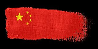 Brushstroke Flag China. Brushstroke-flag made to the computer Royalty Free Stock Photography
