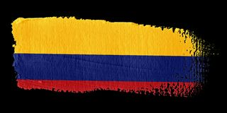 Brushstroke Flag Colombia Royalty Free Stock Photos