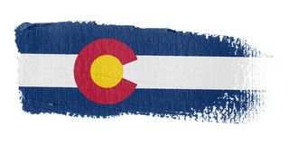 Brushstroke Flag Colorado. Brushstroke-flag made to the computer Royalty Free Stock Images