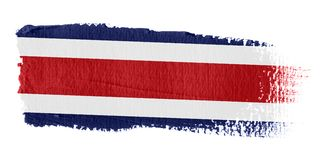 Brushstroke Flag Costa Rica Stock Images