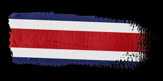 Brushstroke Flag Costa Rica Royalty Free Stock Photo