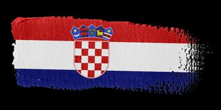 Brushstroke Flag Croatia Stock Image