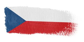 Brushstroke Flag Czech Republi Stock Photos