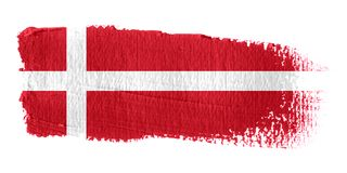 Brushstroke Flag Denmark. Brushstroke-flag made to the computer Stock Photography