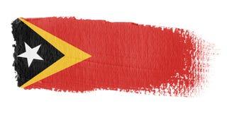 Brushstroke Flag East Timor Stock Photo