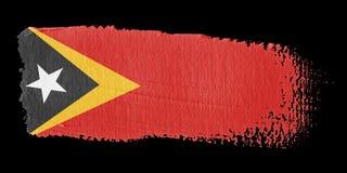 Brushstroke Flag East Timor Royalty Free Stock Images