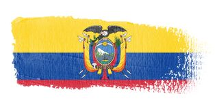 Brushstroke Flag Ecuador. Brushstroke-flag made to the computer Royalty Free Stock Photos