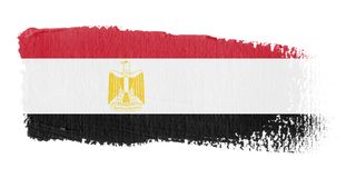 Brushstroke Flag Egypt Royalty Free Stock Image
