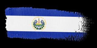 Brushstroke Flag El Salvador Royalty Free Stock Photo