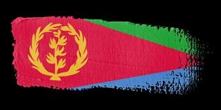 Brushstroke Flag Eritrea royalty free illustration