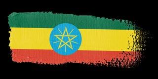 Brushstroke Flag Ethiopia Stock Image