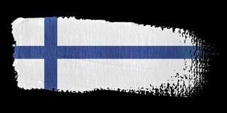 Brushstroke Flag Finland Royalty Free Stock Images