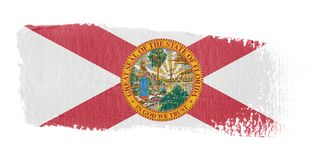 Brushstroke Flag Florida Stock Image