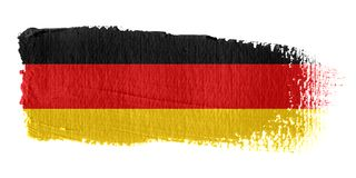 Brushstroke Flag Germany. Brushstroke-flag made to the computer Stock Photography