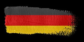Brushstroke Flag Germany. Brushstroke-flag made to the computer Stock Images