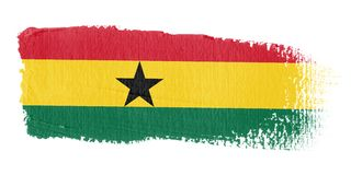 Brushstroke Flag Ghana Royalty Free Stock Image