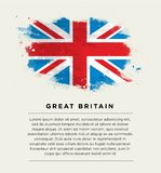 Brushstroke flag Great Britain Royalty Free Stock Photography